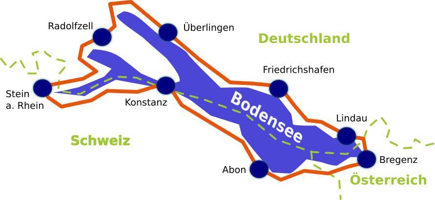 Klassische Bodensee Radtour