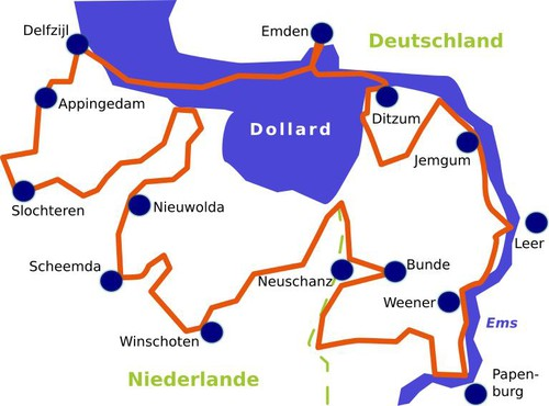 Internationale Dollard Route Karte