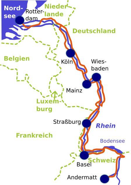 rheinradweg karte Rheinradweg erleben