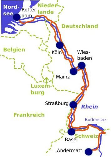 Mosel Karte Mit Allen Orten.Saar Mosel Rhein Von Saarbrücken Nach Koblenz