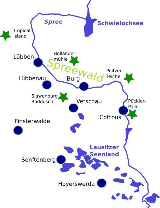 Karte Spreewald Lubbenau.Radwege Im Spreewald In Der Lausitz