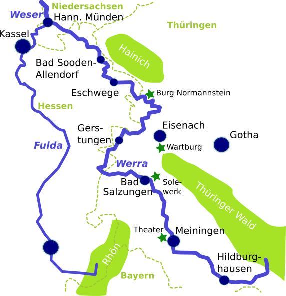 Werratal Radweg Karte.Radfahren An Der Werra Tipps Für Radreisen
