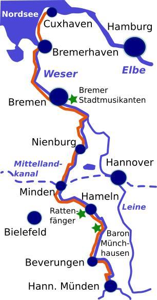 Weser Radweg Karte.Radfahren An Der Weser Tipps Für Radreisen