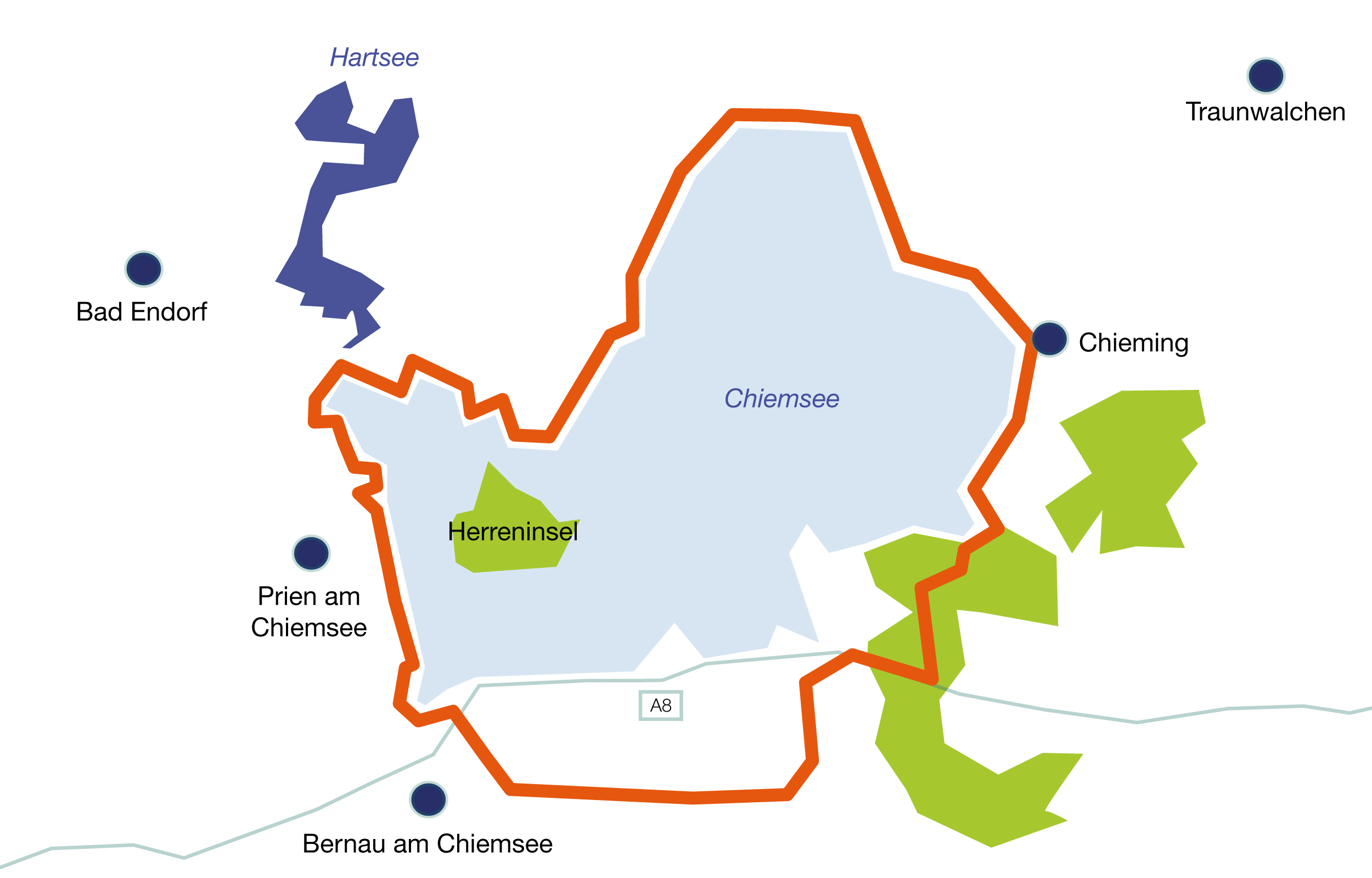 Prien Am Chiemsee Karte.Fahrradreisen Am Chimsee Rundweg