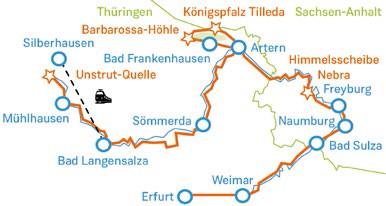 Saale Radweg Karte.Perfekt Organisierte Radreisen Radtouren Auf Unstrut