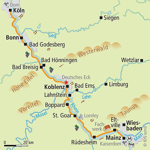 Rhein Radweg Rechtsrheinisch